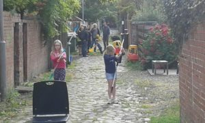 Weans playing in Lanes 2015