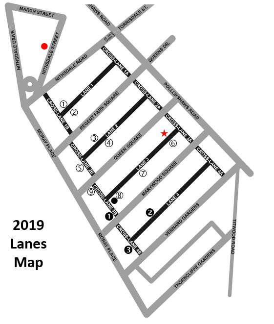 map of lanes