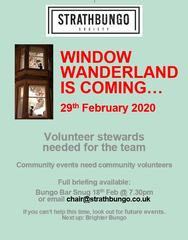 poster for Window Wanderland volunteers