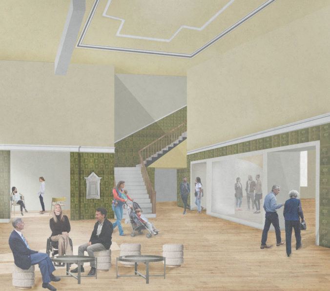 View of proposed entrance hall