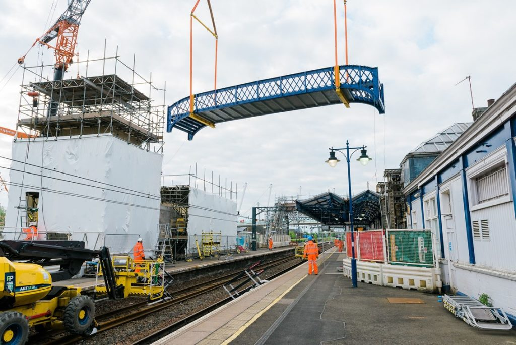 Bridge replacement at Stirling Station